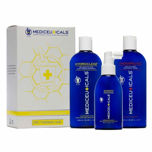 Mediceuticals Mens Hydroclenz Hair Restoration Kit for Dry Hair