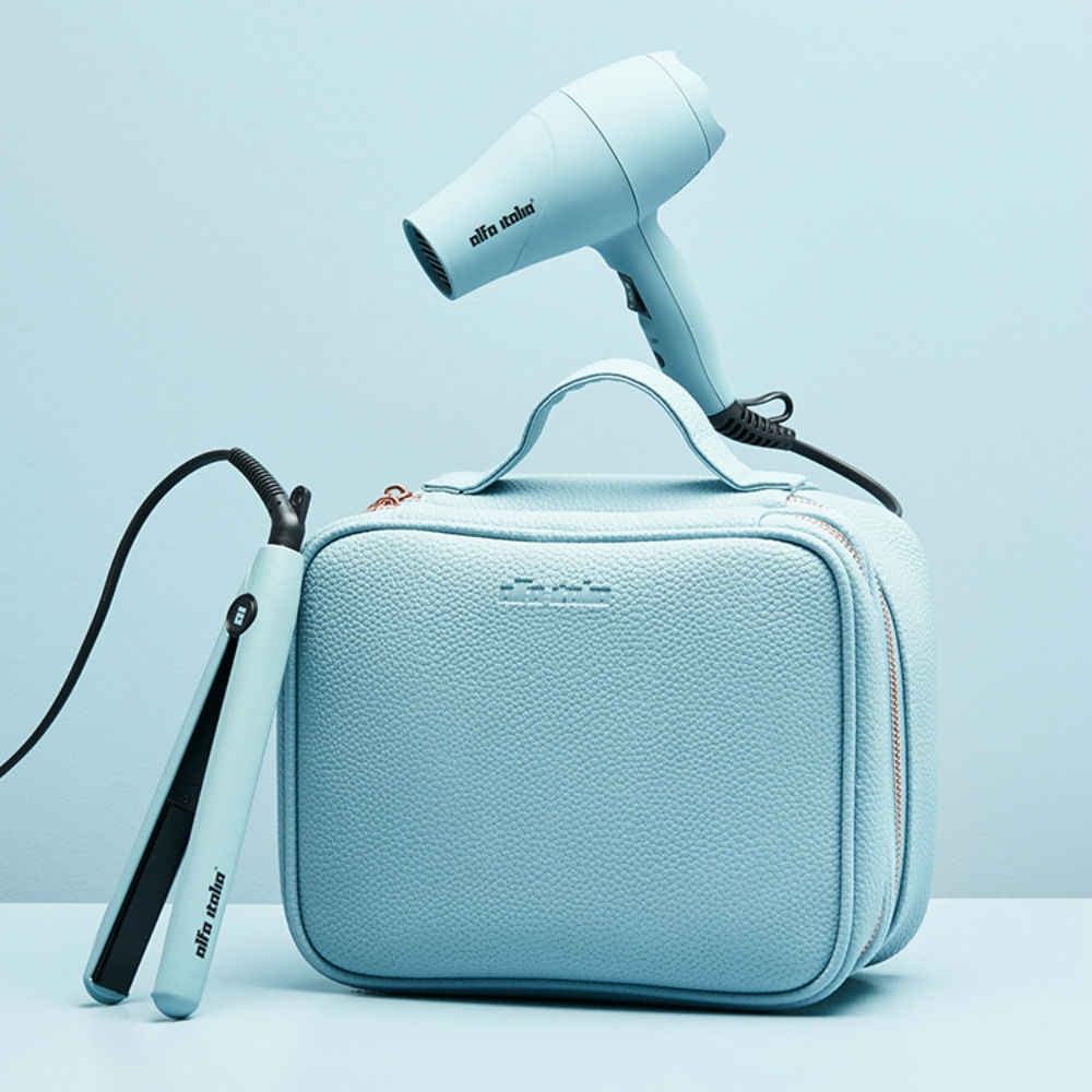 Viaggio Travel Hairdryer and Styler Carrycase in Blue