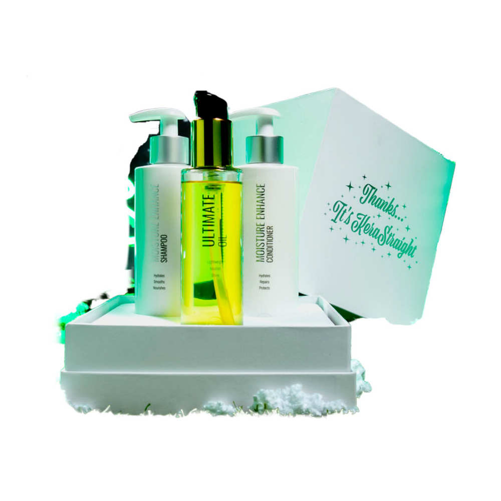 Kerastraight Moisture Enhance Gift Set With Ultimate Oil